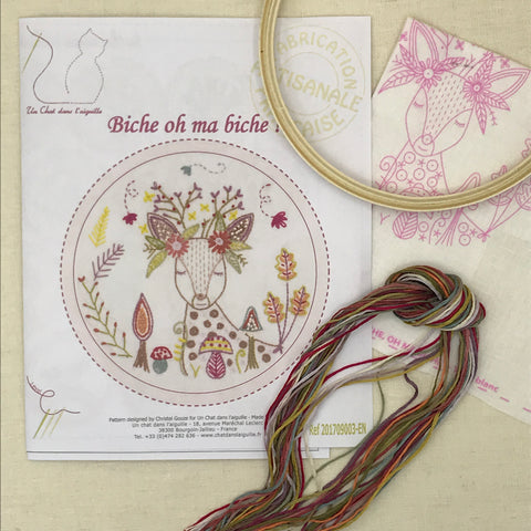 French Embroidery Kit - Deer
