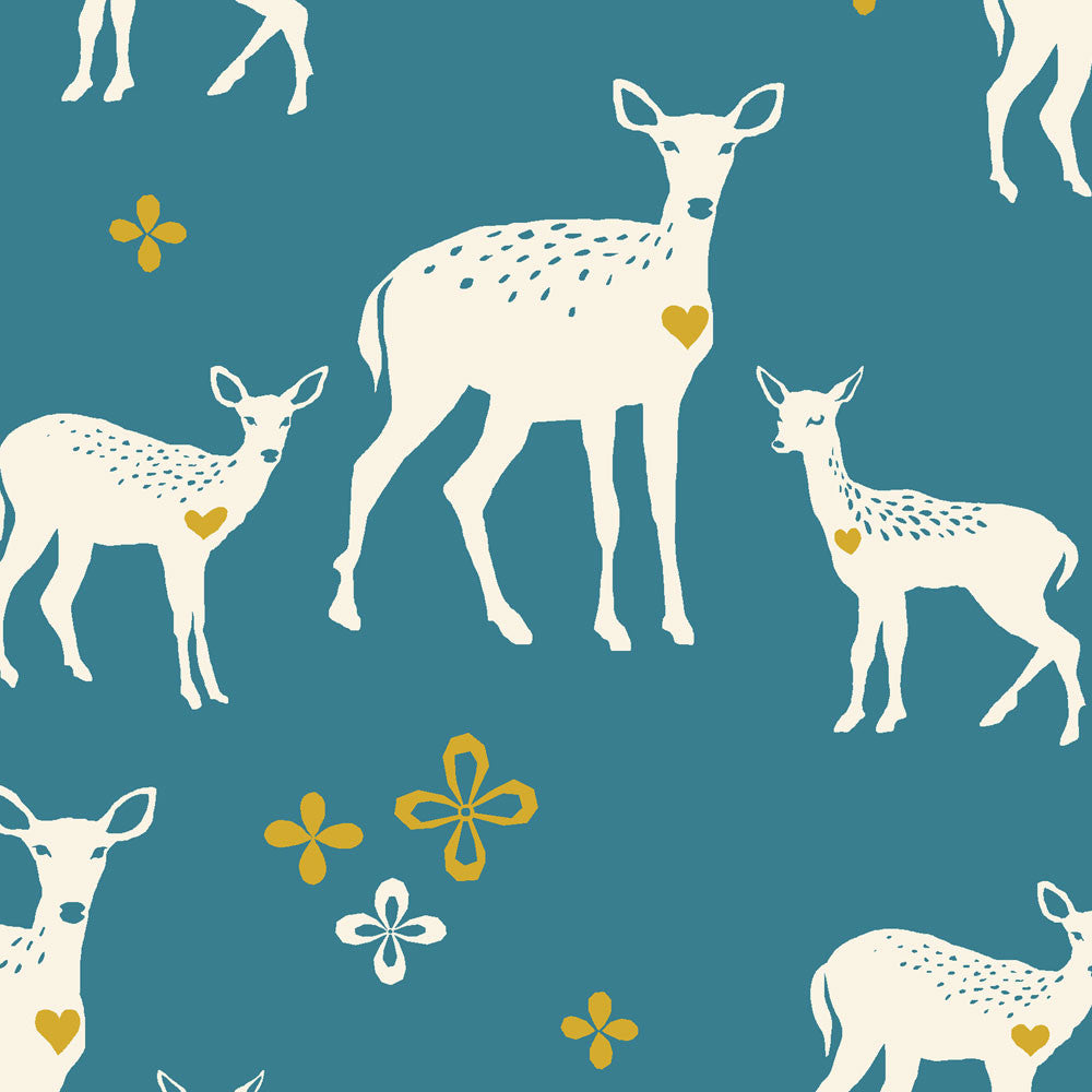 Deerheart Organic Canvas Fabric by Monaluna