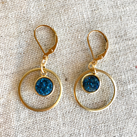 Kamila Earrings in Blue by Larissa Loden