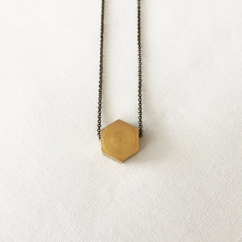 Hexagon Necklace by Larissa Loden