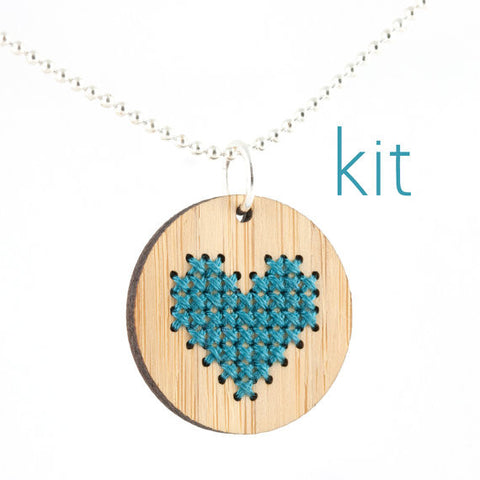 Bamboo Pendant Kit - Heart