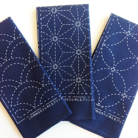 Sashiko Embroidery Cloth- Navy