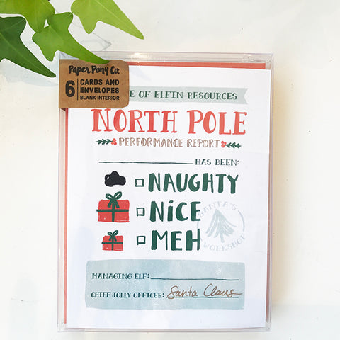 North Pole Report Card Set
