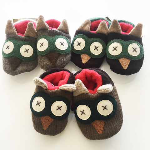Reclaimed Wool Baby Slippers