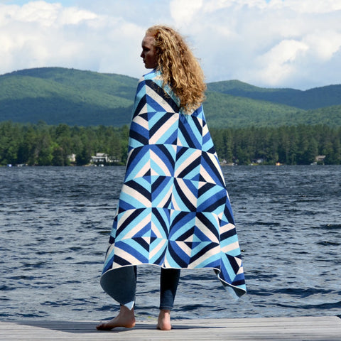 Betz White Eco Throws - Patchwork