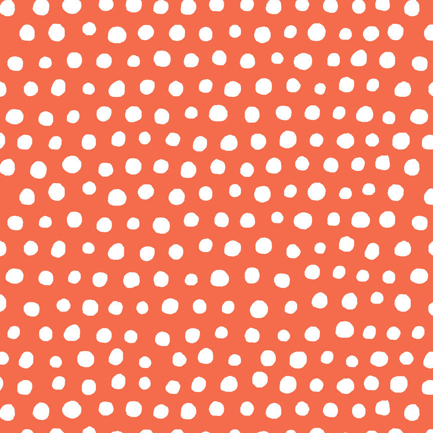 Polka Ott Red Organic Fabric by Monaluna