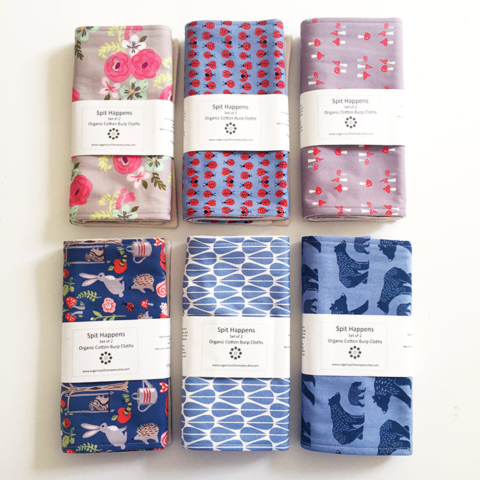 Organic Quilt Company Organic Burp Cloths Set