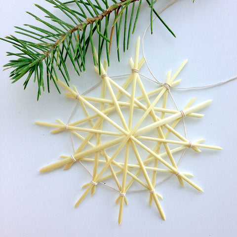 Straw Star Ornaments