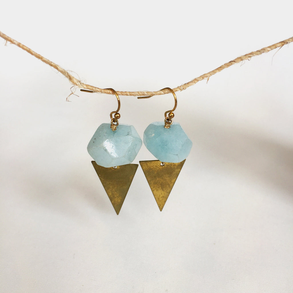 Pennant Earrings by Larissa Loden