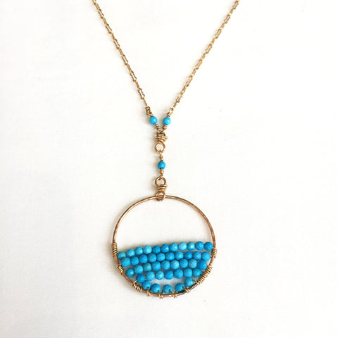 Gold Turquoise Necklace by Rose Gilley Designs