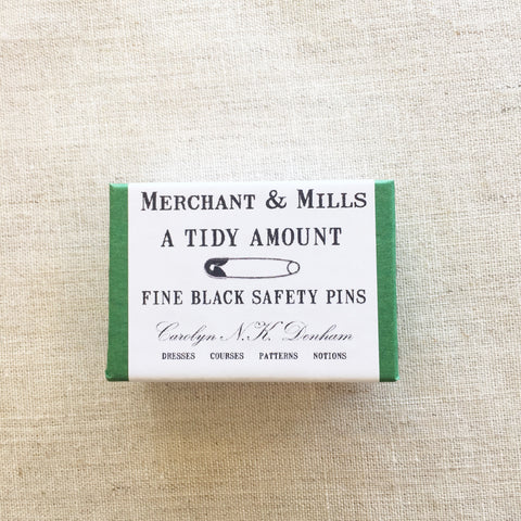 Merchant and Mills Safety Pins Black