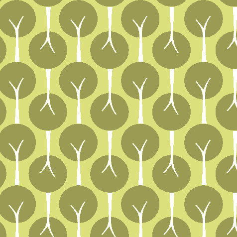 Treelined Leaf Organic Fabric by Monaluna