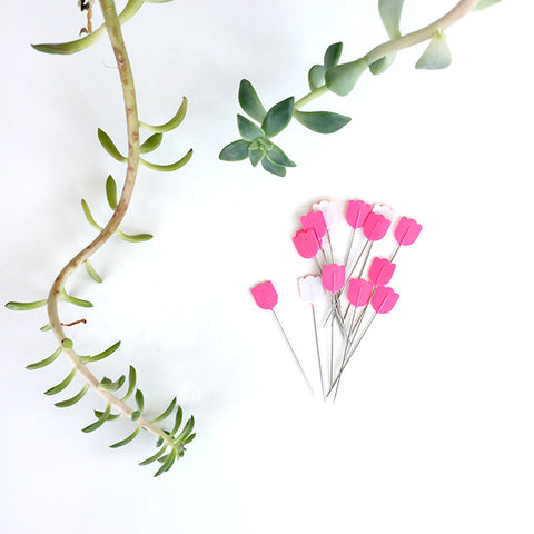 Tulip Cellulose Head Pins (Tulips)