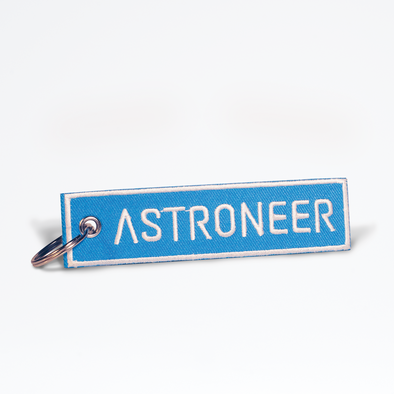 Astroneer Fabric Flight Tag Keychain