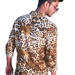 Leopard Printed Men's Shirt (SH180)