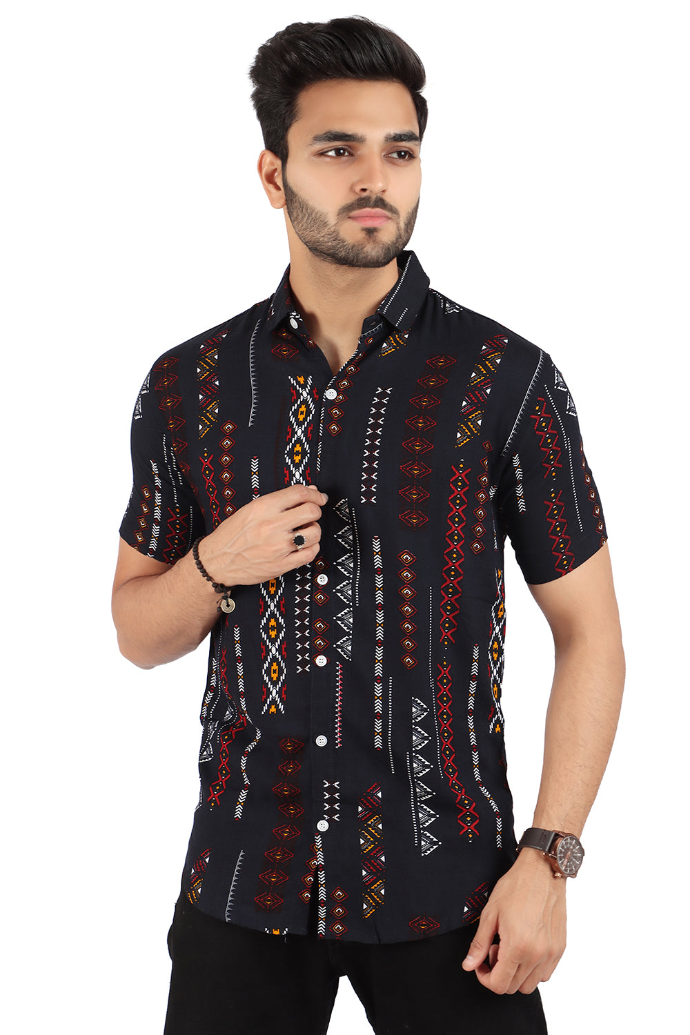 Classical Print Half sleeved Shirt (SH230)