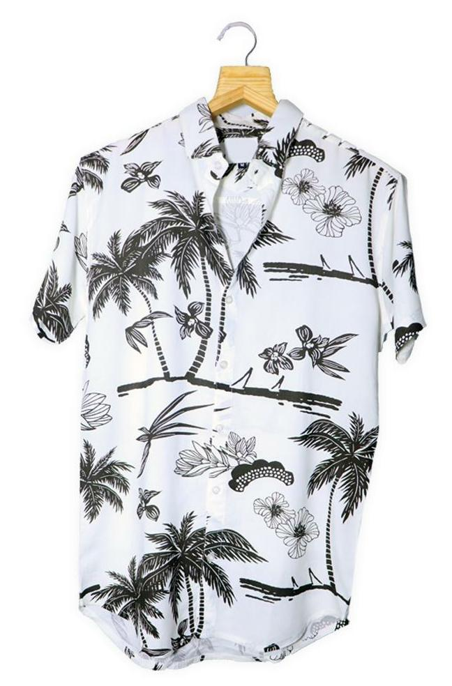 Coconut Tree Printed Shirt (SH110)
