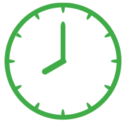 An image of a clock to represent the withdrawal time.