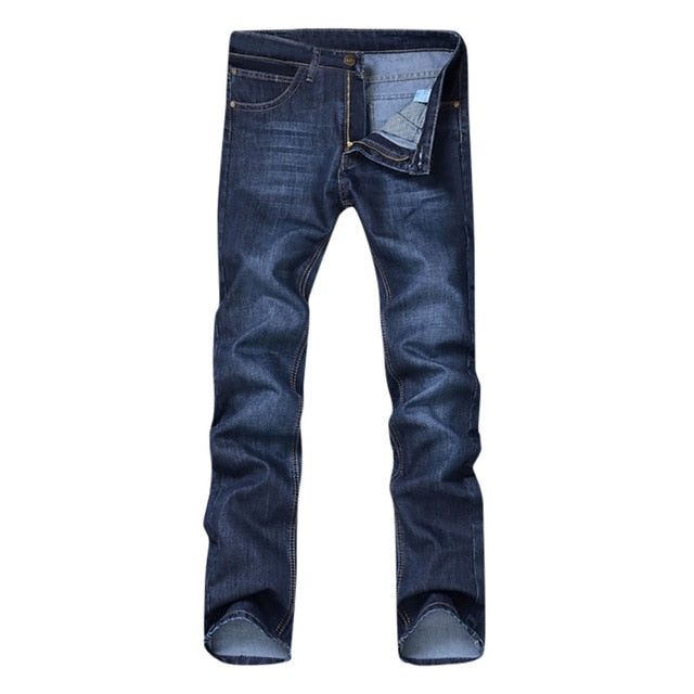 Men's Casual Cotton Zipper Jeans