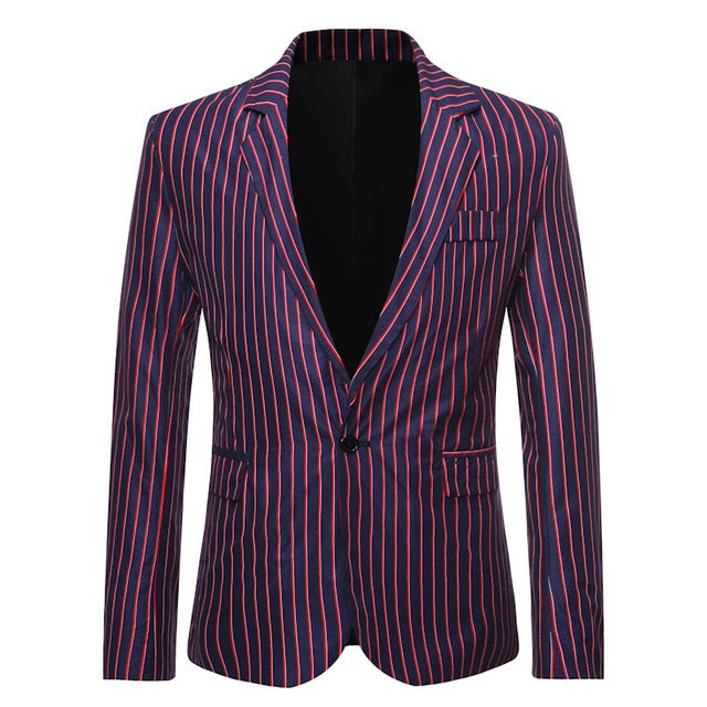 Casual Flower Notch Lapel Men Suit
