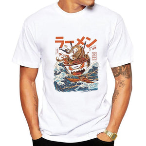 Noodle Ship Cartoon Men T-shirt