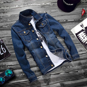 Casual Holes Turn-down Collar Slim Jacket