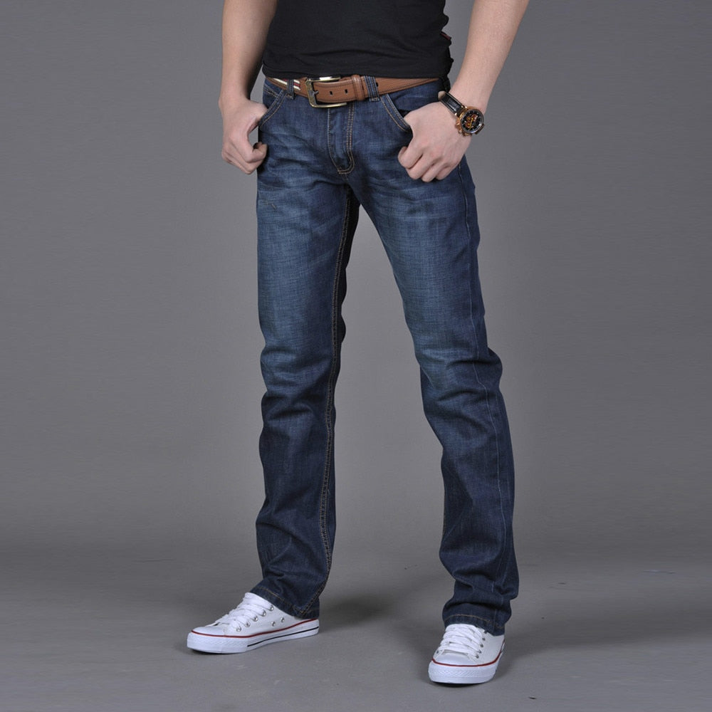 Cotton Hip Hop Loose Work Long Jeans
