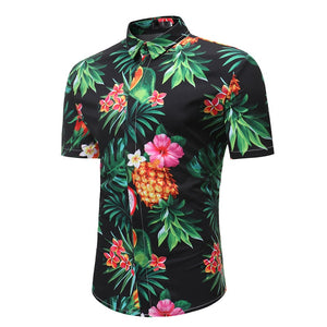Male Casual Printed Beach Shirt