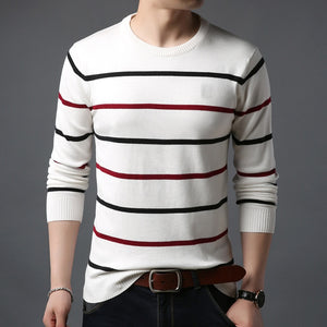 O-Neck Men Casual Striped Sweater