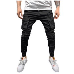 Solid Denim Trouser Distressed Jeans