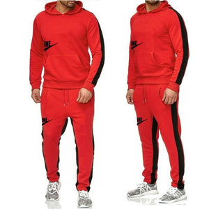 The New Men's hoodie sports suit  cotton  polyester drawstring sportswear trend fashion Autumn And Winter pullover suit