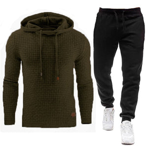2020 New Tracksuit Men Brand Male Solid Hooded Sweatshirt+Pants Set Mens Hoodie Sweat Suit Casual Sportswear S-5XL Free Shipping