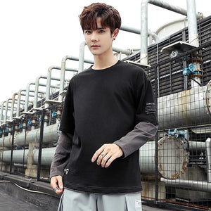 Men's Autumn Long-sleeved Loose Tees