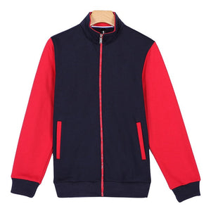Patchwork Casual Baseball Uniform Jacket