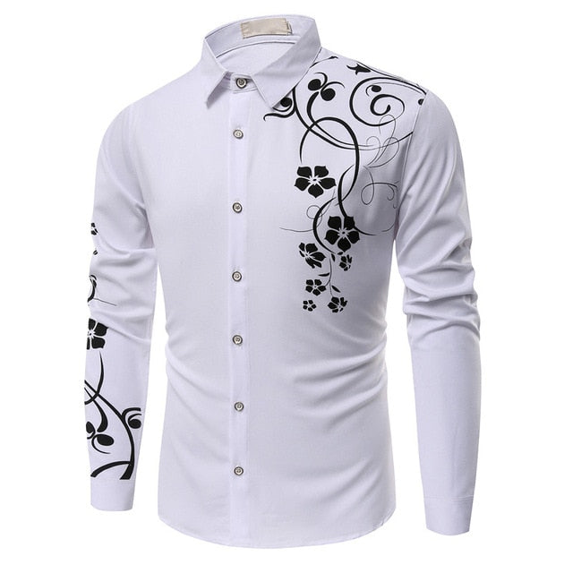 Polka Dot Floral Men Dress Suit