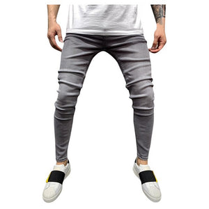 Fashion Gray Men Casual Jeans