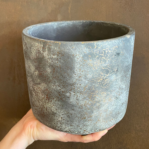 Cement Pot - Dark | 16cm