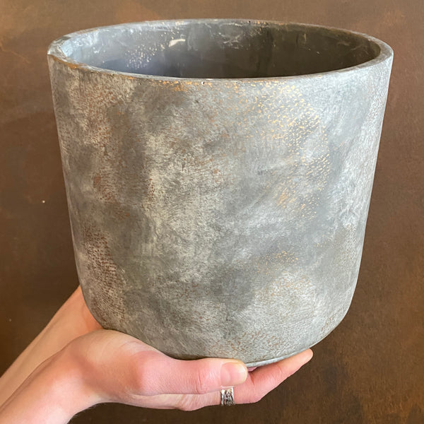 Cement Pot - Dark | 18cm