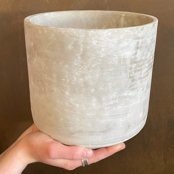 Cement Pot - Light | 21cm