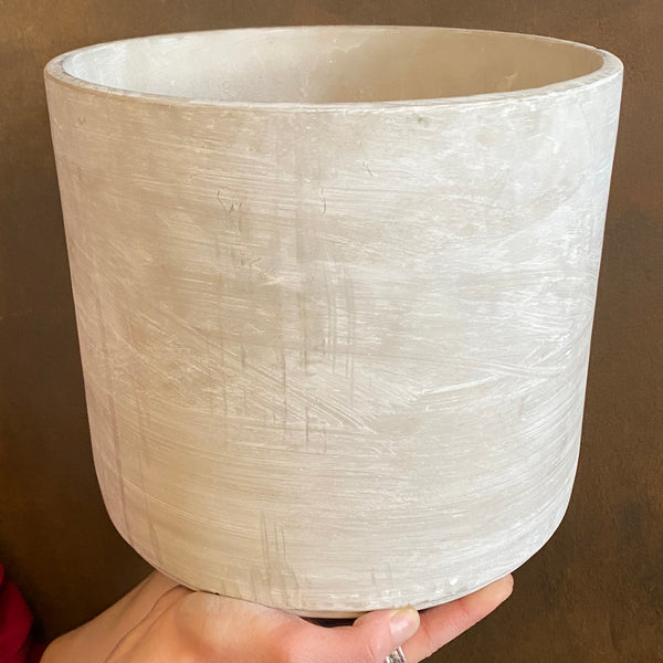 Cement Pot - Light | 26cm