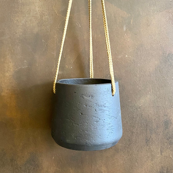 Hanging Tapered Pot - Charcoal | 15cm