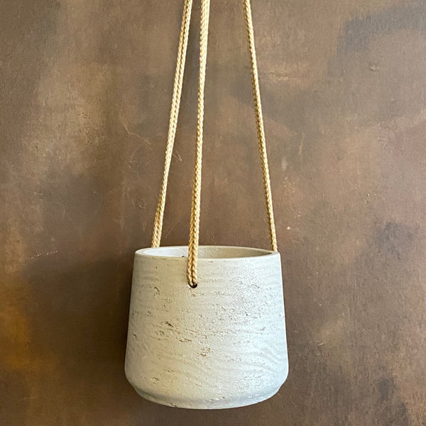 Hanging Tapered Pot - Stone Washed | 15cm
