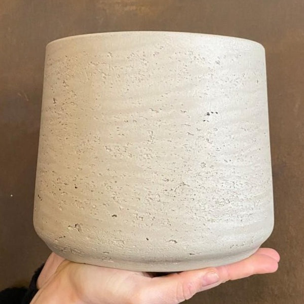 Tapered Fibreclay Pot - Stone Washed | 18cm (large)