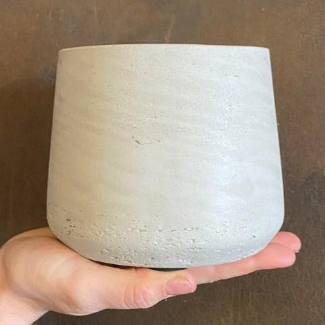 Tapered Fibreclay Pot - Stone Washed | 12cm (small)