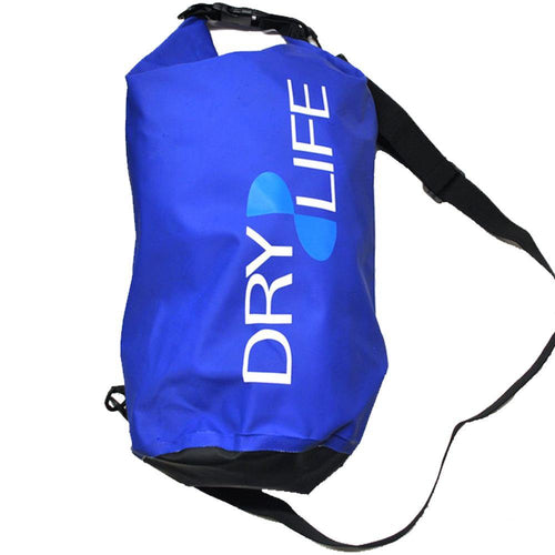 Dry Life 15 Litre Waterproof Tube Bag: Blue | Grey | Red | Yellow - Stokedstore