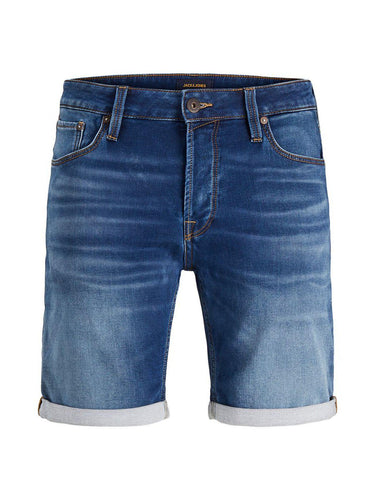 Jack & Jones RICK Icon Denim Bermuda Shorts: Blue Denim - Mens - Stokedstore