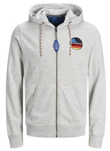 Load image into Gallery viewer, Jack & Jones REXPLORE Sweat Zip Hoodie: Ensign Blue | White Melange - Mens - Stokedstore