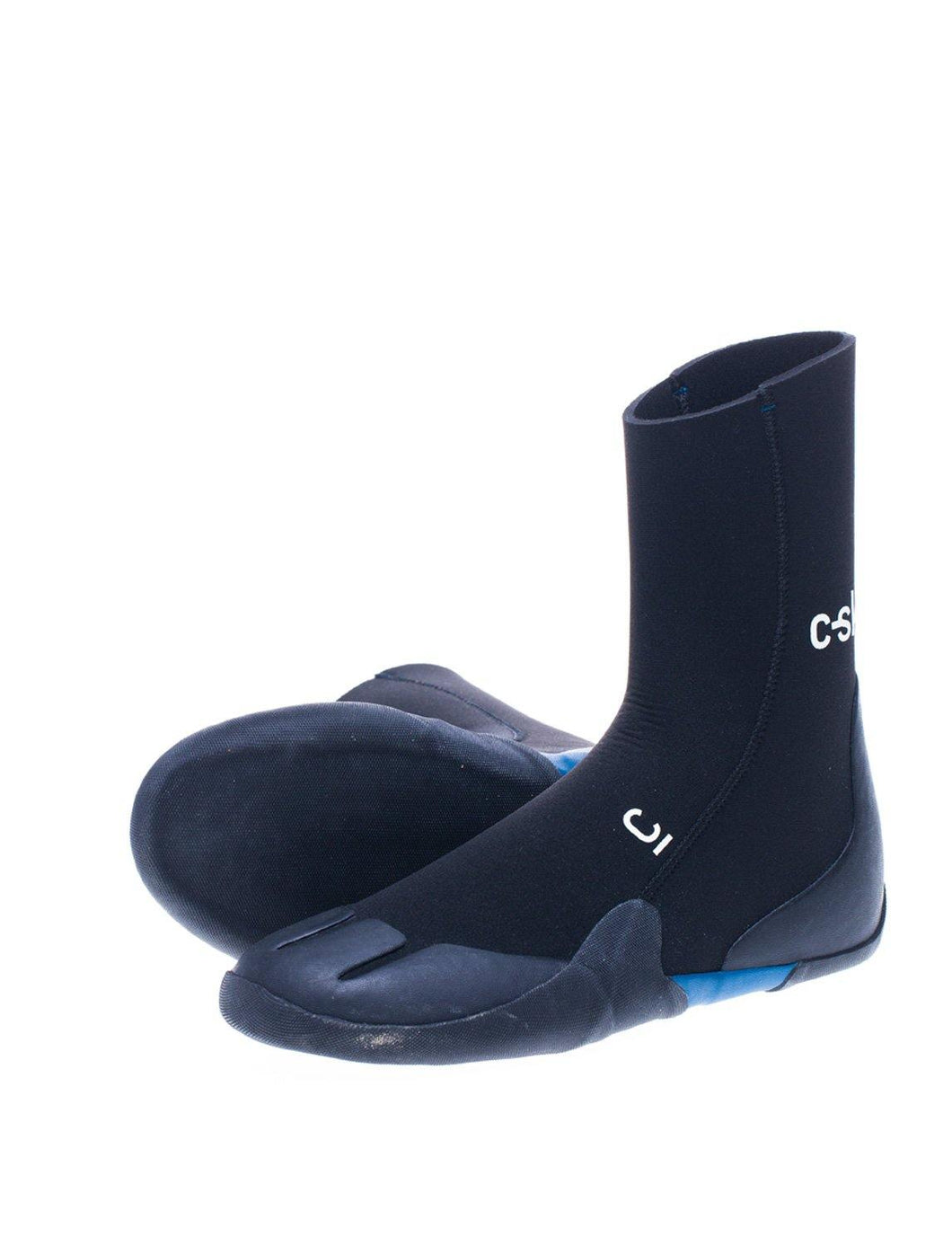 C-Skins Legend 5mm Adult Round Toe Boots - Black/Ocean Blue - Stokedstore