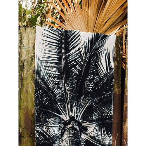 Slowtide Nui Towel: Black and White - Stokedstore