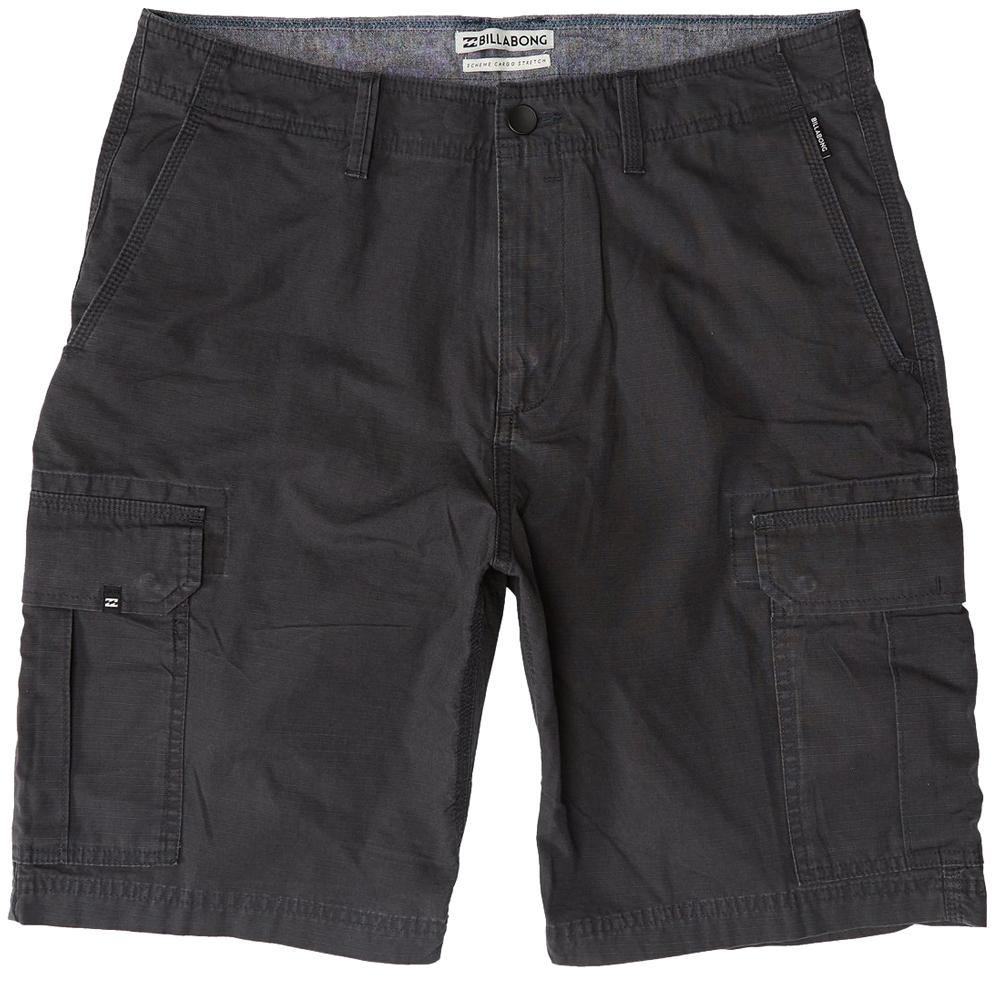 Billabong Scheme Cargo Shorts: Military | Charcoal - Mens - Stokedstore